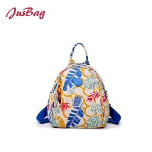 Mini printing backpack-floral