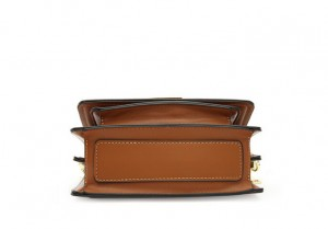 Basic square pu leather clutch with wide belt-multi color