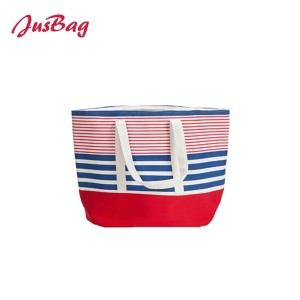 Tote bag-polyester-horizontal stripe