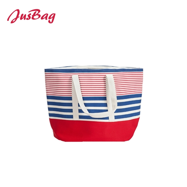 Tote bag-polyester-horizontal stripe Featured Image