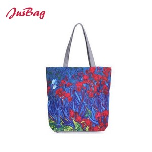 Shopping&beach bag-polyester-flowers