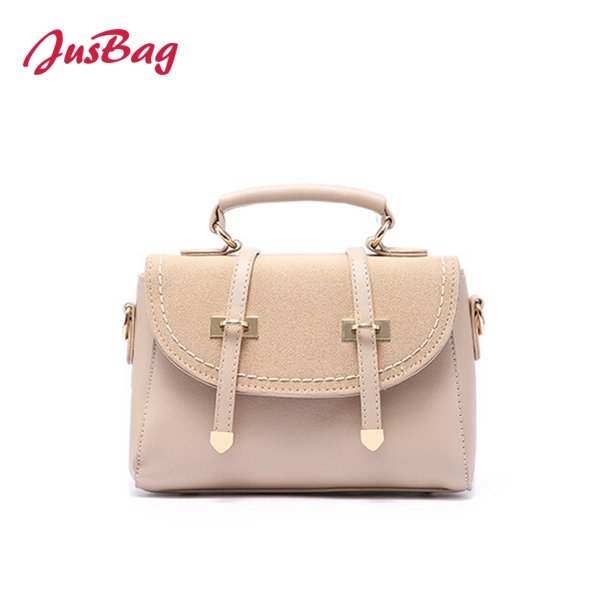 Suede message bag with gold buckle-multi color Featured Image