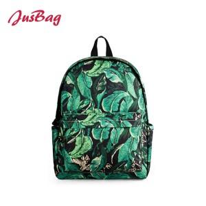 Basic printing backpack-leaves