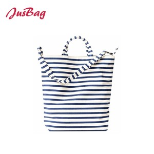 Shopping&beach bag-canvas-stripe