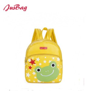 Children backpack-PU leather-frog