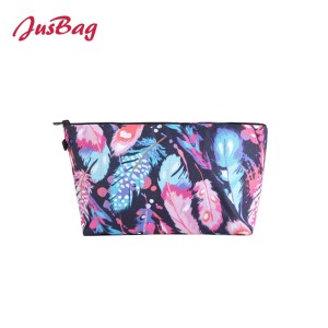 Make up bag pencil pouch-leather