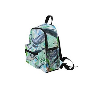 Basic printing backpack-shark