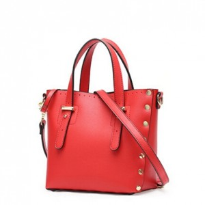 PU leather tote bag with rivet-multi color