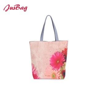 Shopping&beach bag-canvas-flowers