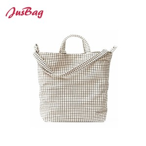 Shopping&beach bag-canvas-grid