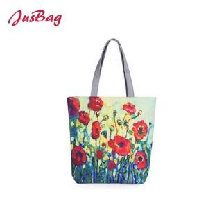 Shopping&beach bag-polyester-flowers
