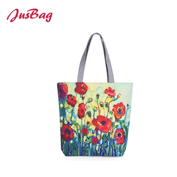 Shopping&beach bag-polyester-flowers Featured Image