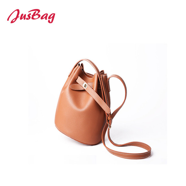 Shoulder bag-PU leather-brown Featured Image