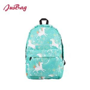 Basic printing school backpack-unicorn