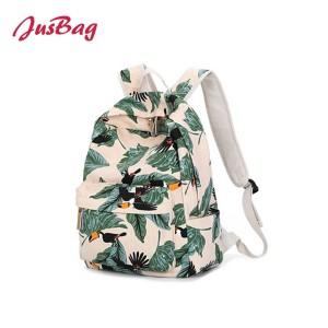 Medium printing backpack-leaves