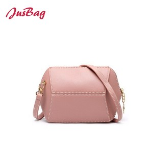 Candy color medium crossbody bag-pink