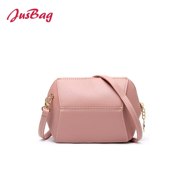 Candy color medium crossbody bag-pink Featured Image