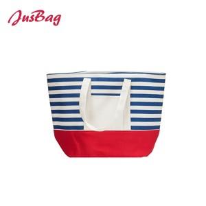 Tote bag-polyester-horizontal stripe