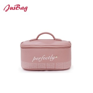 New pu leather make up bag-pink