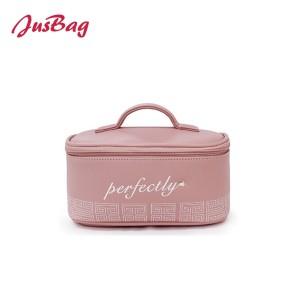 New pu leather make up bag-pink