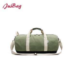 Classic cylinder gym bag duffle-grey