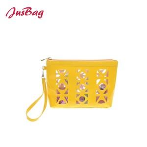 Hand bag-yellow-pierced