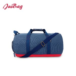 Classic cylinder gym bag duffle-navy