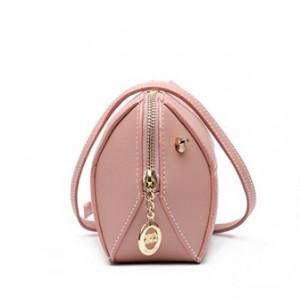Candy color medium crossbody bag-pink
