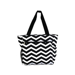 Printed canvas shopping bag-zigzag