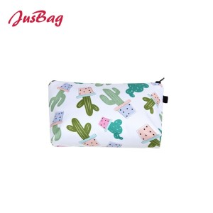Printed make up bag pencil pouch-cactus