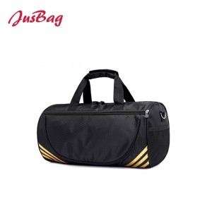 Basic medium cylinder gym bag duffle-gold