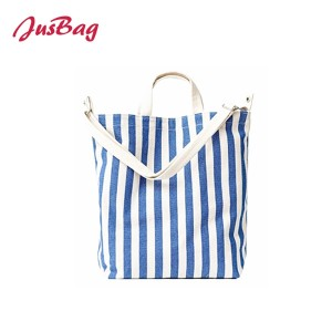 Shopping&beach bag-canvas-Vertical stripes
