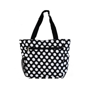 Printed canvas shopping bag-dots
