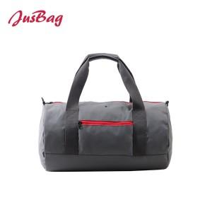 Basic cylinder gym bag duffle-grey