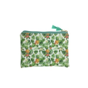 Tropical printing flat make up bag-pineapple