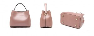 PU leather bucket hand bag with buckle-multi color