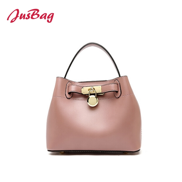 PU leather bucket hand bag with buckle-multi color Featured Image