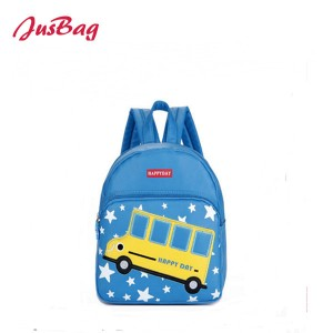 Children backpack-PU leather-bus