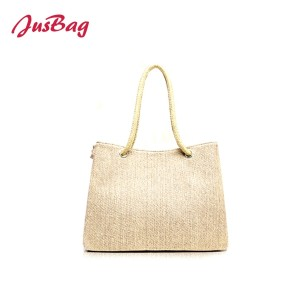 Canvas beach bag totes-melange color