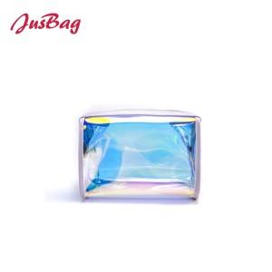 Laser transparent pvc make up bag