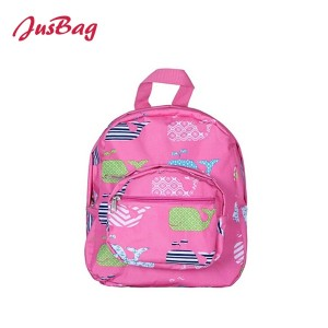 Backpack-polyester-pink、blue、gray