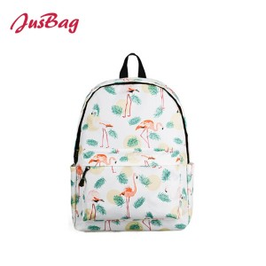 Basci printing backpack-flamingo